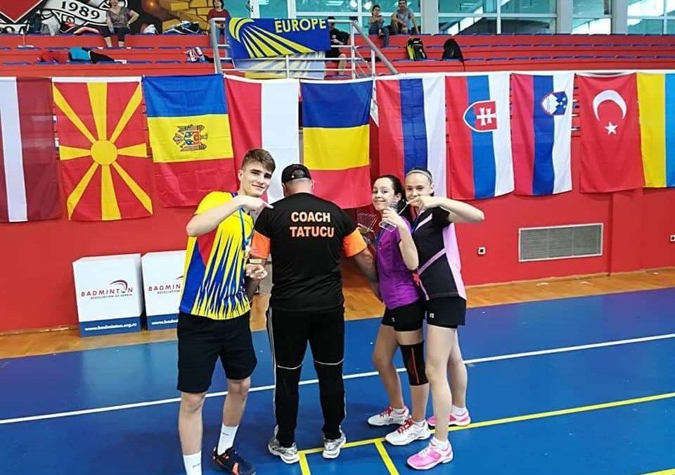 Medalii europene pentru secția de badminton