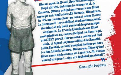 Gheorghe Popescu – legendă și simbol pentru Sportul Studențesc